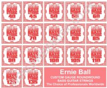 Ernie Ball BASS Guitar Strings - SINGLE STRING PACKS - All Gauges  .040 - .135